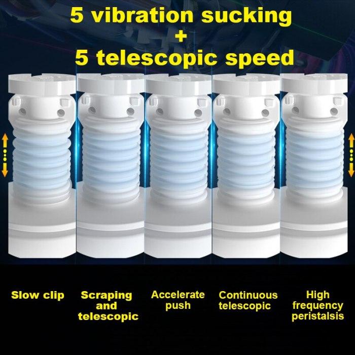 Men Automatic Masturbator Artificial Pussy Blowjob Simulator Male Vacuum Masturbation Cup Erotic Toy For Man