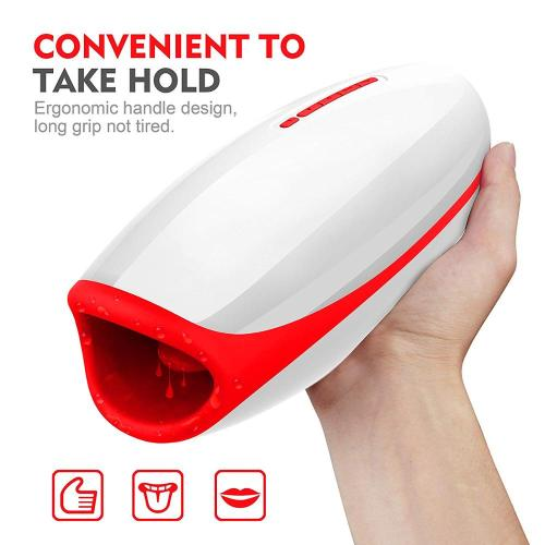 Male Masturbator Vibrator for Men Silicone Automatic Rotation Heating Sucking Oral Sex Cup Adult Intimate Toys Blowjob Machine