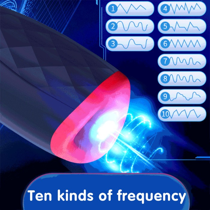 10 modes Oral Blowjob Sucking Male Masturbation Cup Deep Throat Artificial Vagina Vibrator Heating Intelligent Voice Sex Machine