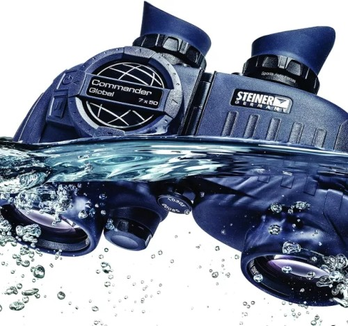 Steiner Commander Series 7x50 Marine Binoculars, Performance Marine Optics to Navigate Low Light or Fog