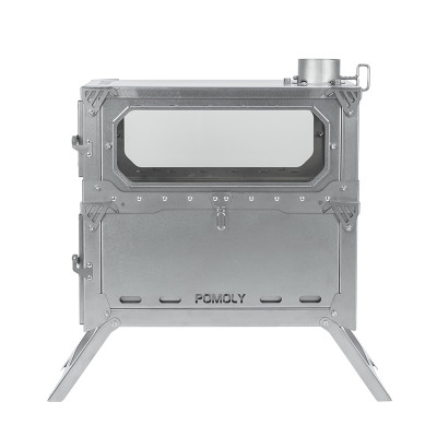 T-BRICK MAX   ポータブル式 二段式 チタンテントストーブ   POMOLY 2021新シリーズ