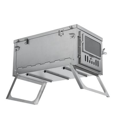 POMOLY T1 チタン テントストーブ (単一ガラス窓版)