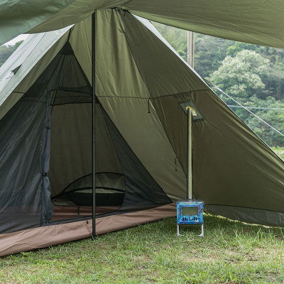 Pomoly MANTA ワンポールテント 煙突穴付き(2-4人用)