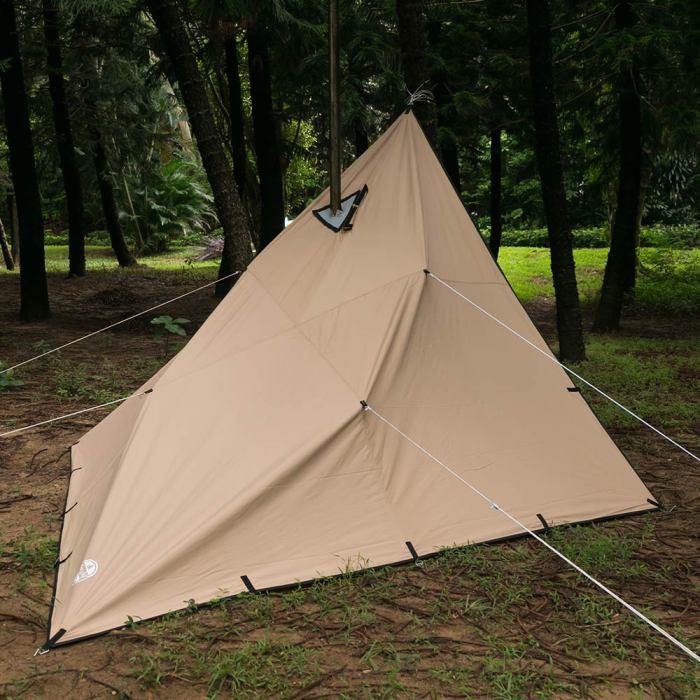 【POMOLY Wolf Den 2.0】TCタープ 、煙突穴付き、ソロアドベンチャーとキャンプ- Lonewolf 902