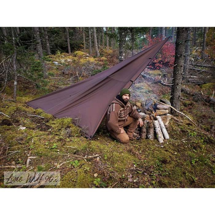 【POMOLY Wolf Den】オックスフォードタープ  ソロアドベンチャーとキャンプ- Lonewolf 902