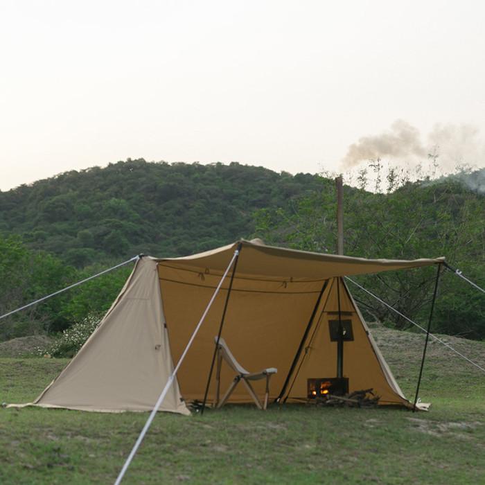 POMOLY TC パップテント   1-2人用  コットンテント(煙突穴付き)