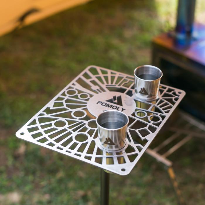 POMOLY G2 GIMBAL チタン製キャンプテーブル コップ付き