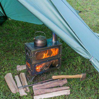 HUSSAR Plus  超軽量テント,薪ストーブ付き2-3人用または4-5人用  | POMOLY 2021 | 在庫有り