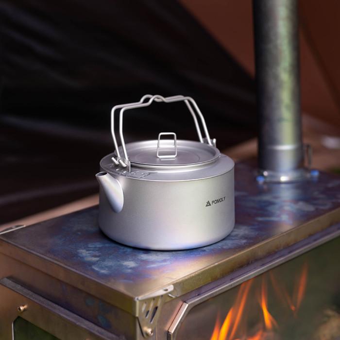 POMOLY  チタン製ヤカン1.0L 超軽量コーヒーケトル 新品2021