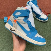 "OFF-WHITE x Air Jordan 1 ""UNC"""