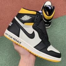 "Air Jordan 1 NRG ""No L's"" Black Yellow"