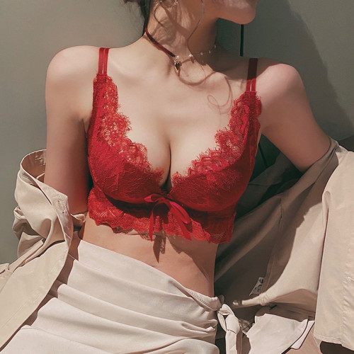 【原廠價332/套】小胸聚攏內衣內褲女士無鋼圈無肩帶收副乳防下垂文胸罩性感~