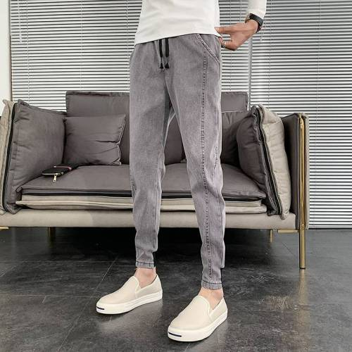 【45-110公斤可穿】獨特風格有你掌握!Chic搭配帥小腳牛仔褲 水洗不掉色、耐髒耐磨!
