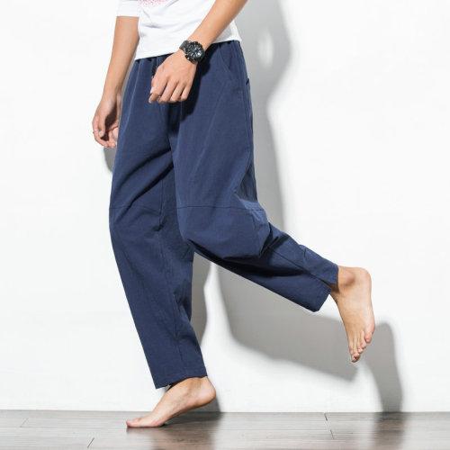 【日本原廠價!】男款日系風寬鬆休亞麻褲,傳統工藝,簡尚設計,透氣輕盈舒適。