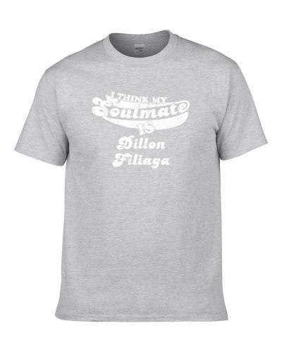My Soulmate Is Dillon Filiaga Utah State Football Worn Look Men T Shirt