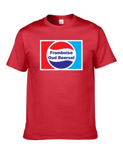 Framboise Oud Beersel Beer Lover Funny Cola Parody Drinking Gift T Shirt
