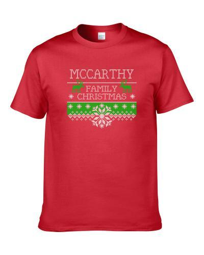 Mccarthy Family Christmas Cute Ugly Holiday Sweater Gift Men T Shirt