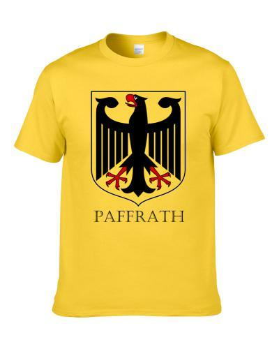 German Last Name Custom Paffrath Germany Coat Of Arms T Shirt