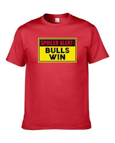Chicago Spoiler Alert Basketball Team Wins Funny Fan tshirt for men