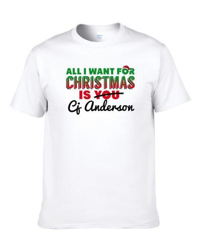 All I Want For Christmas Is Cj Anderson Denver Football Fan Shirt