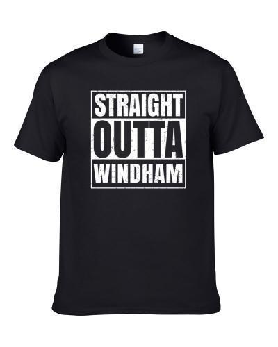 Straight Outta Windham New Hampshire City Compton Parody Grunge Men T Shirt