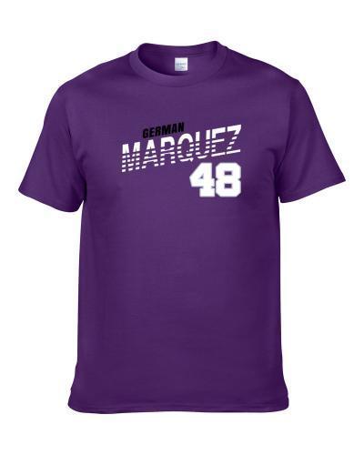 German Marquez 48 Favorite Player Colorado Baseball Fan Shirt