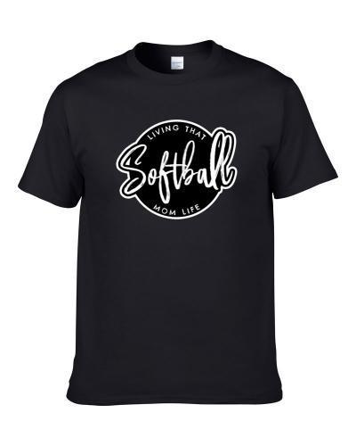 Living That Softball Mom Life Kids Sports Support Womens Apron Men T Shirt