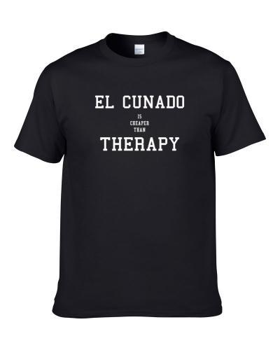 El Cunado Is Cheaper Than Therapy Beer Lover Drinking Gift T Shirt