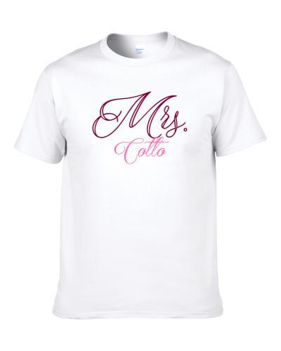 Mrs Cotto Last Name Funny TEE