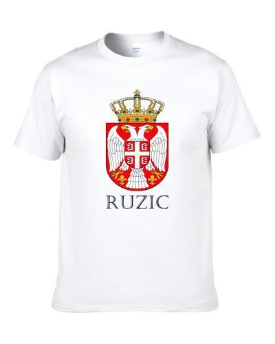 Ruzic Serbian Last Name Custom Surname Serbia Coat Of Arms S-3XL Shirt