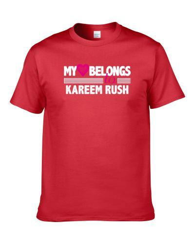 My Heart Belongs To Kareem Rush Philadelphia Basketball Player Fan Men T Shirt