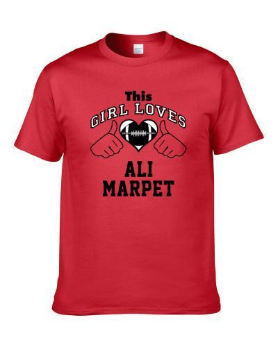 This Girl Loves Ali Marpet Tampa Bay Football Player Sports Fan Heart Men T Shirt