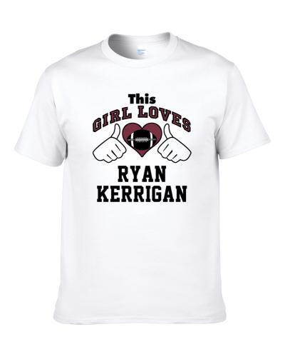 This Girl Loves Ryan Kerrigan Washington Football Player Sports Fan Heart T-Shirt