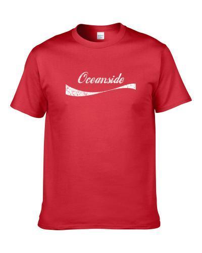 Oceanside California Cola Parody City Cool Worn Look tshirt