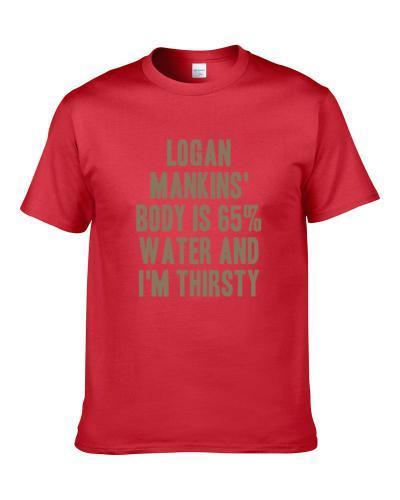 Logan Mankins Body Is Water I'm Thirsty Tampa Bay Football Player Fan S-3XL Shirt
