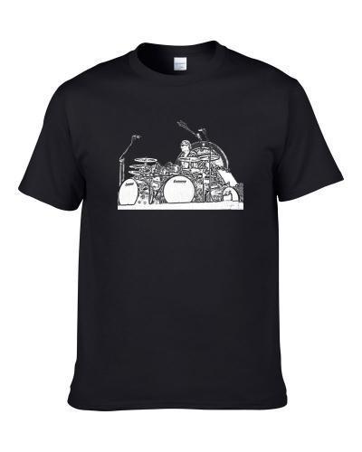 Alex van Halen Van Halen Drummer Black  T-Shirt