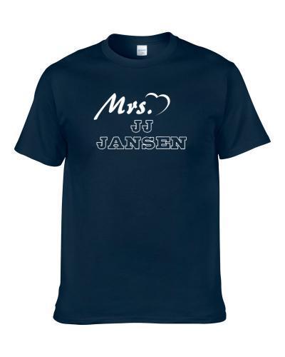 This Girl Loves Jj Jansen Carolina Football Player Sports Fan Heart Shirt