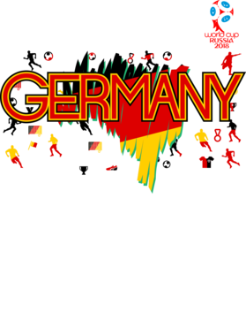Germany 2018 Fifa World Cup Super Cool Football Fan T Shirt
