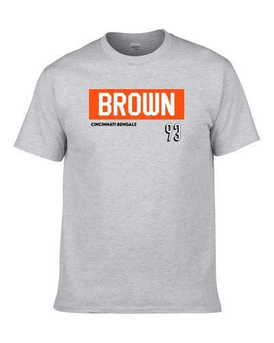 Andrew Brown 93 Cincinnati Football Favorite Player Fan S-3XL Shirt