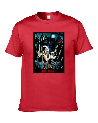 Hell Night Classic 80s Horror Movie Poster tshirt for men