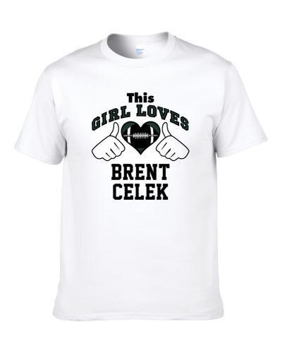 This Girl Loves Brent Celek Philadelphia Football Player Sports Fan Heart S-3XL Shirt