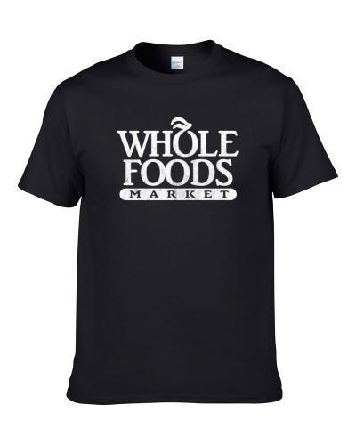 Whole Foods Market Grocery Store Company Logo Vintage Grunge Look Apron Men T Shirt