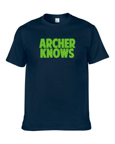 Rj Archer Knows Seattle Football Player Sports Fan S-3XL Shirt