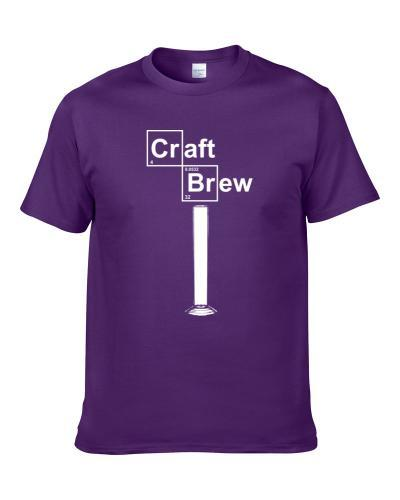 Craft Brew Hydrometer Jar Gift For Brewmaster Unique Rare Periodic Table Men T Shirt