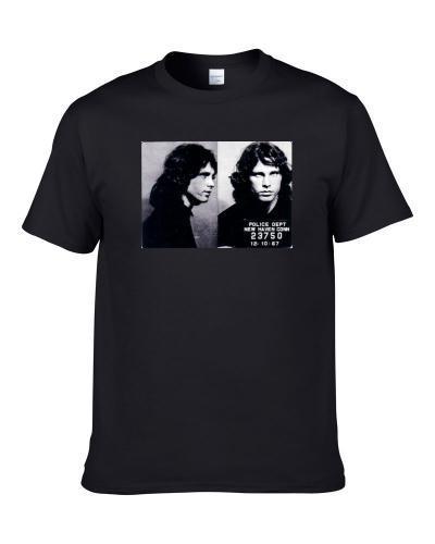Jim Morrison Celebrity Mugshot Men T Shirt