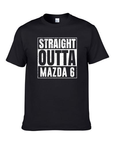 Straight Outta Mazda 6 Compton Parody Car Lover Fan Hooded Pullover Shirt