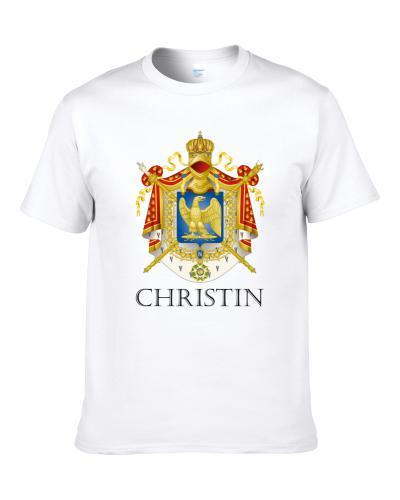 Christin French Last Name Custom Surname France Coat Of Arms S-3XL Shirt