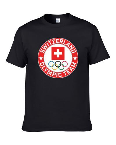 Switzerland Winter Olympic Team Pyeongchang 2018 Round Logo Men T Shirt