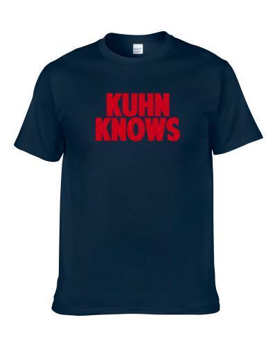 Markus Kuhn Knows New York Football Player Sports Fan S-3XL Shirt