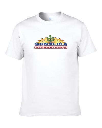 Sonalika International Tractor Logo Worn Look Father's Day Gift Fan S-3XL Shirt